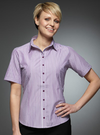 Value Work Uniforms: Stripe Blouses